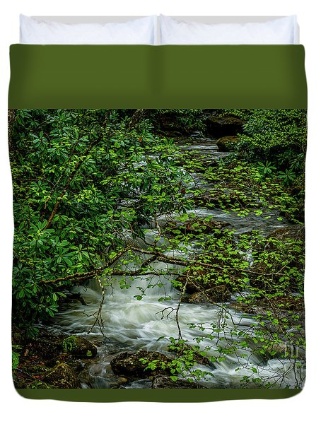 Duvet Cover featuring the photograph Kens Creek Cranberry Wilderness by Thomas R Fletcher