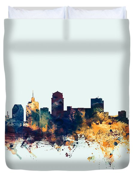 Nashville Tennessee Skyline Duvet Cover