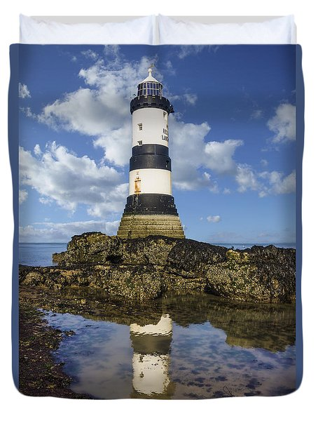 Penmon Lighthouse Duvet Cover
