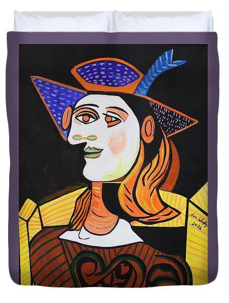 Hair Net  Picasso Duvet Cover