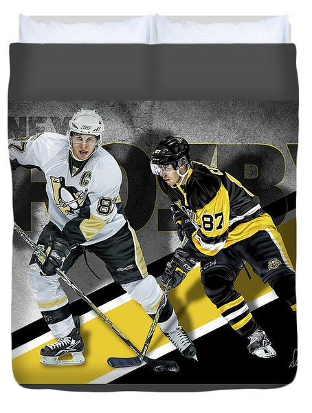 Duvet Cover featuring the photograph Sidney Crosby by Don Olea
