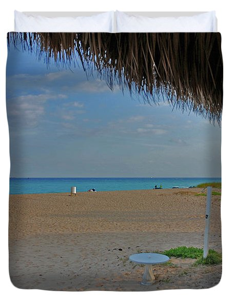 Duvet Cover featuring the photograph 7- Southern Beach by Joseph Keane