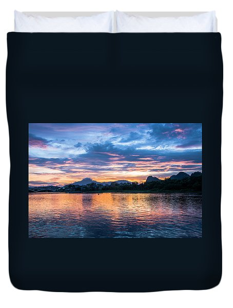 Duvet Cover featuring the photograph Sunrise Scenery In The Morning by Carl Ning