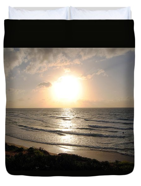 Sunset At Jaffa Beach 10 Duvet Cover