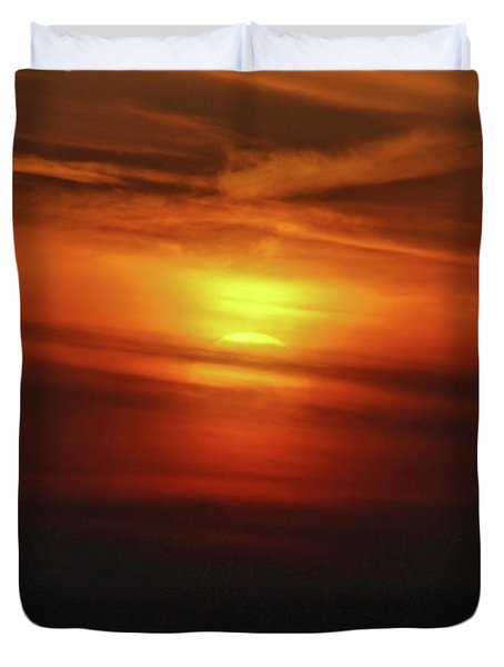 Duvet Cover featuring the photograph 7- Sunset by Joseph Keane