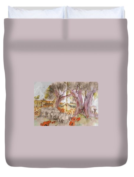Trees Trees Trees Album Duvet Cover