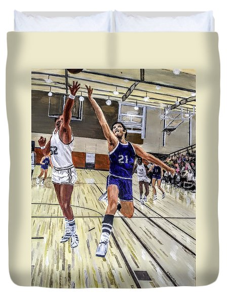 Duvet Cover featuring the painting 70's Layup by Kevin Daly