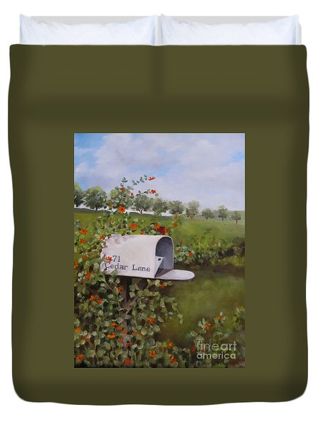 71 Cedar Lane Duvet Cover by Karen Olson