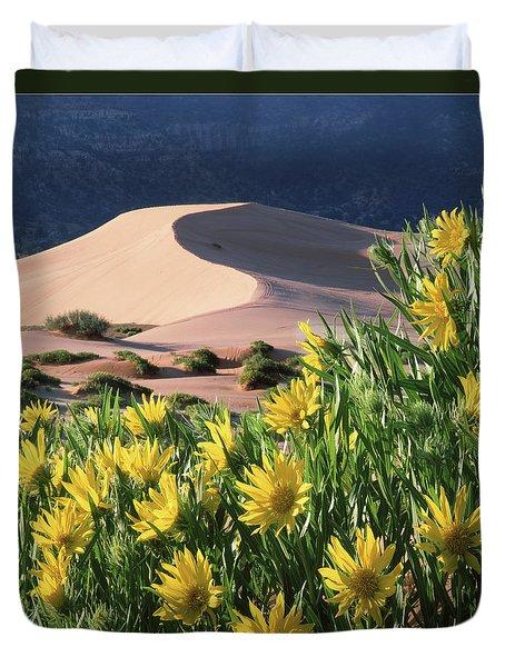712404 V Sunflowers And Sand Dunes Duvet Cover