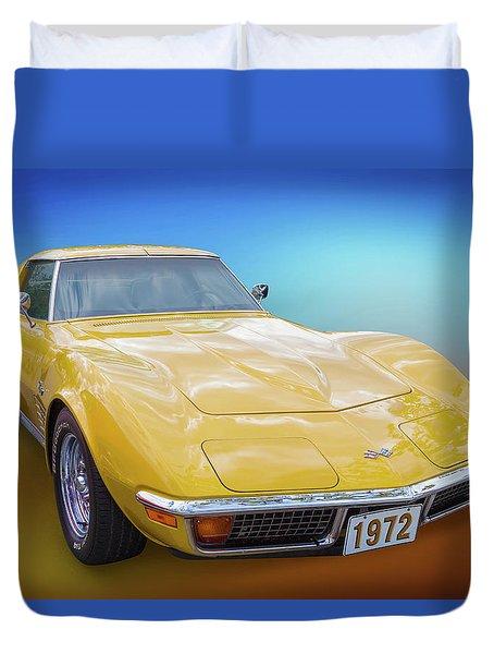 72 Corvette Duvet Cover