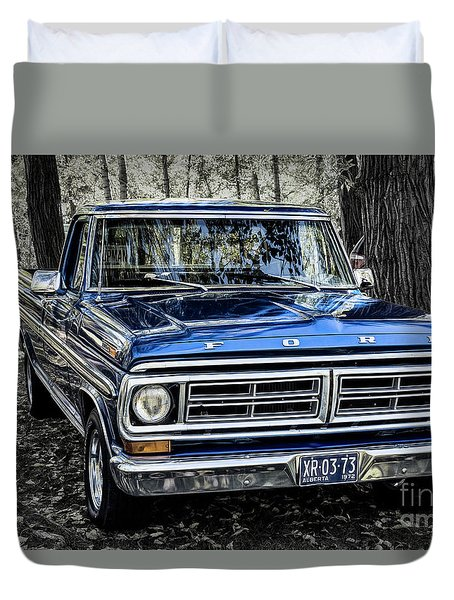 Duvet Cover featuring the photograph 73 Ford Pickup by Brad Allen Fine Art
