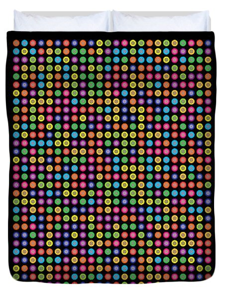 768 Digits Of Pi Up To Feynman Point, E And Phi Duvet Cover by Martin Krzywinski
