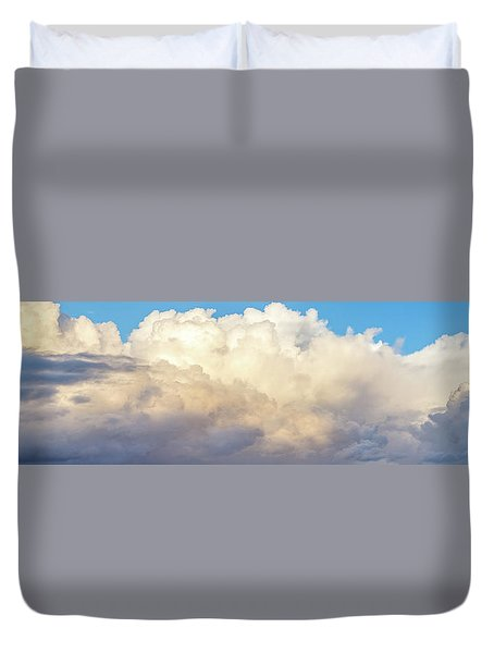 Duvet Cover featuring the photograph Clouds by Les Cunliffe