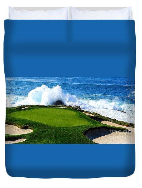 7th Hole - Pebble Beach  Duvet Cover