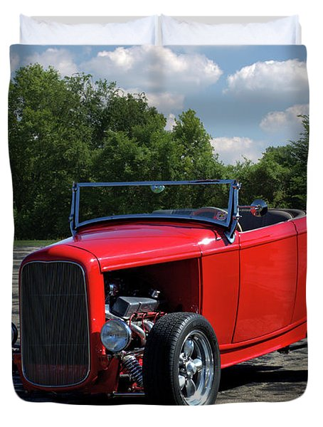 Duvet Cover featuring the photograph 1932 Ford Roadster Hot Rod by Tim McCullough