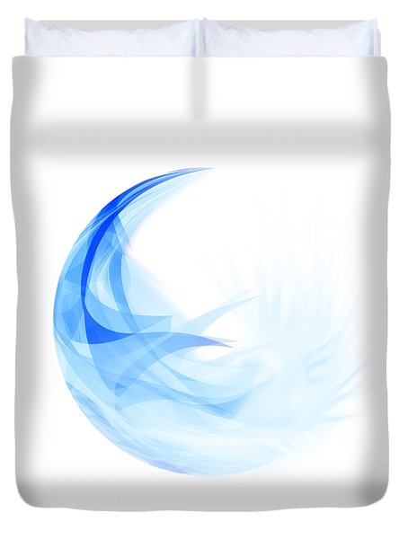 Duvet Cover featuring the painting Abstract Feather by Setsiri Silapasuwanchai