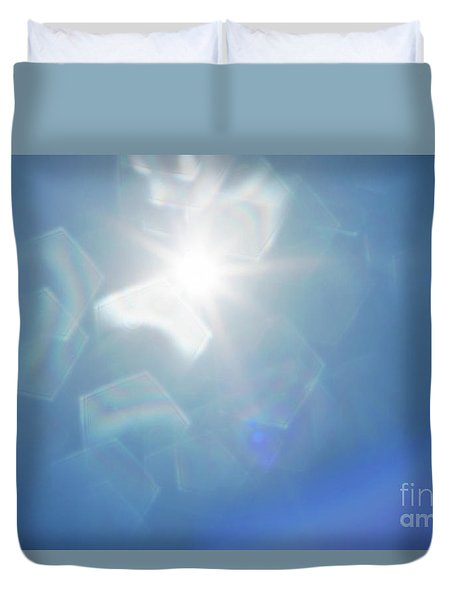 Duvet Cover featuring the photograph Abstract Sunlight by Atiketta Sangasaeng