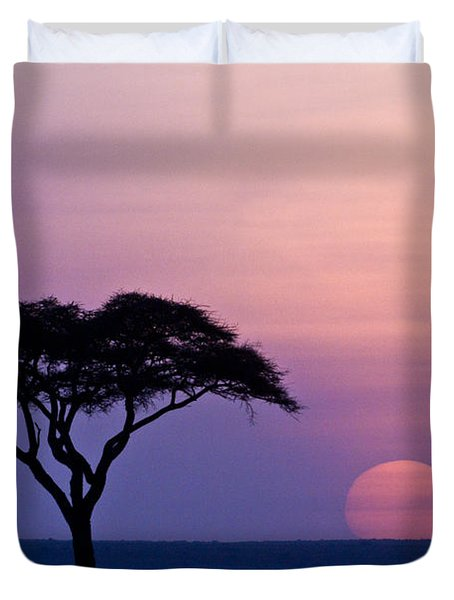 African Sunrise Duvet Cover