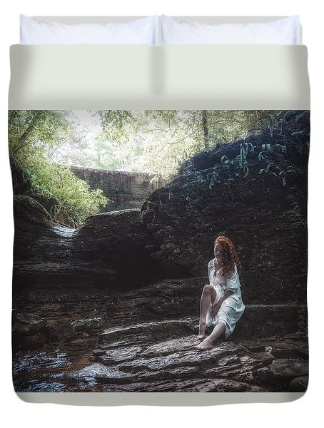 Duvet Cover featuring the photograph Aretusa by Traven Milovich