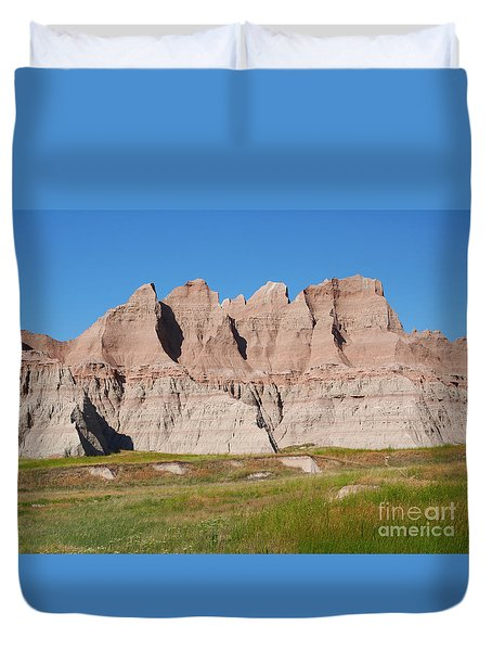 Badlands National Park South Dakota Duvet Cover by Louise Heusinkveld