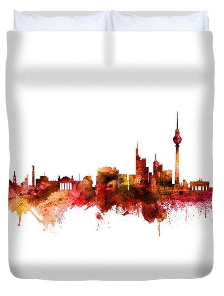 Berlin Germany Skyline Duvet Cover
