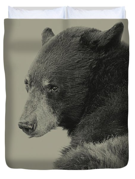 Black Bear  Duvet Cover by Brian Cross