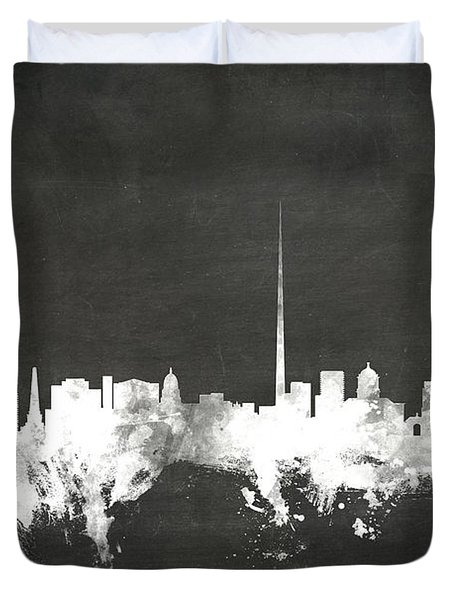 Dublin Ireland Skyline Duvet Cover