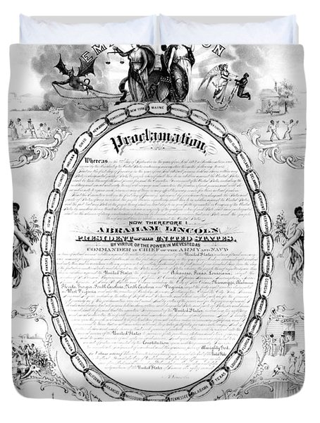Emancipation Proclamation Duvet Cover by Granger