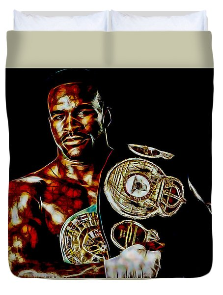 Evander Holyfield Collection Duvet Cover by Marvin Blaine
