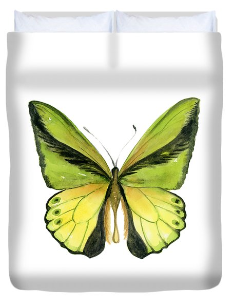 8 Goliath Birdwing Butterfly Duvet Cover