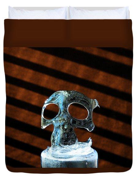 Ice Skullpture Duvet Cover