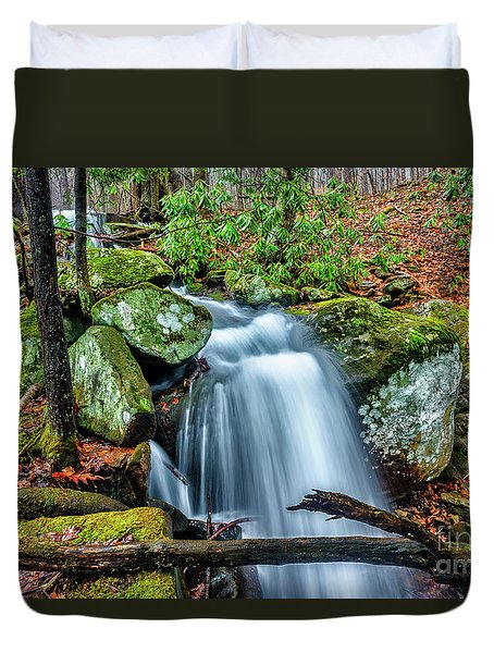 Duvet Cover featuring the photograph Little Laurel Branch by Thomas R Fletcher
