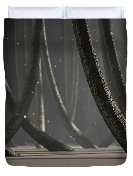Microscopic Hair Fibers Duvet Cover