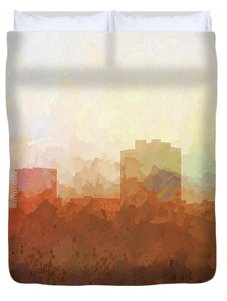 Duvet Cover featuring the digital art New Orleans Louisiana Skyline by Marlene Watson