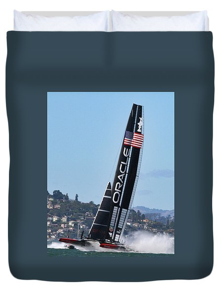 Once In San Francisco Duvet Cover