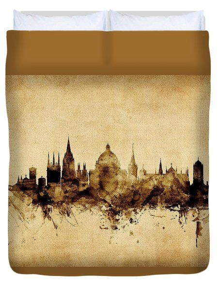 Oxford England Skyline Duvet Cover