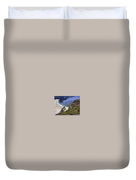Point Lobos Beach Duvet Cover