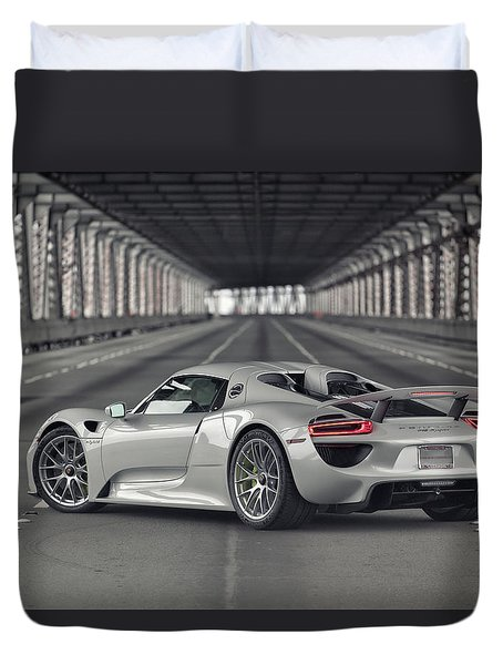 Duvet Cover featuring the photograph Porsche 918 Spyder  by ItzKirb Photography