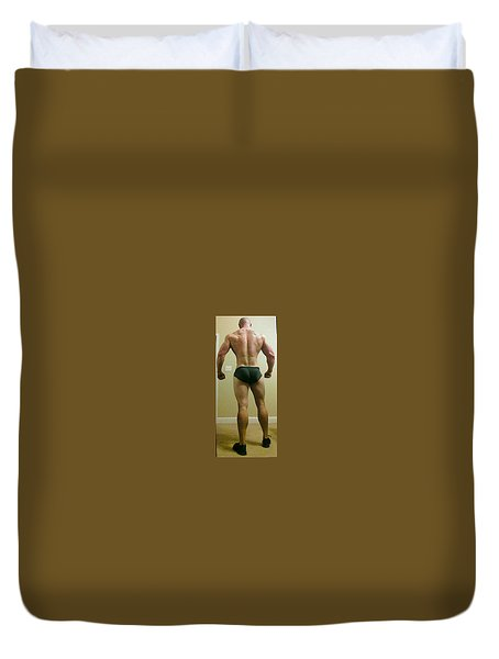 Duvet Cover featuring the photograph Rear View by Jake Hartz