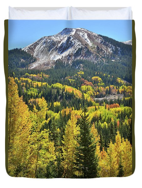 Duvet Cover featuring the photograph Red Mountain Pass by Ray Mathis