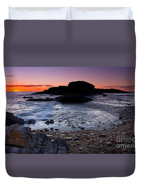 Second Valley Sunset Duvet Cover