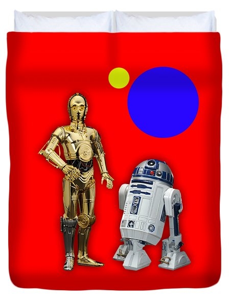 Star Wars C3po And R2d2 Collection Duvet Cover