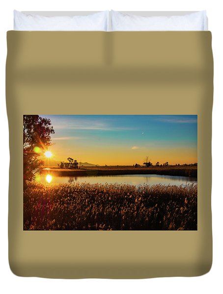 Sunrise In The Ditch Burlamacca Duvet Cover