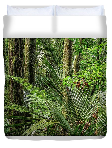 Duvet Cover featuring the photograph Tropical Jungle by Les Cunliffe