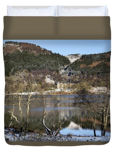 Trossachs Scenery In Scotland Duvet Cover by Jeremy Lavender Photography