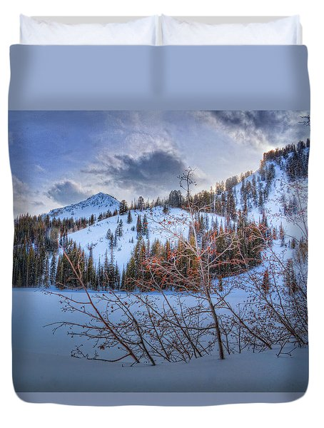 Wasatch Mountains In Winter Duvet Cover