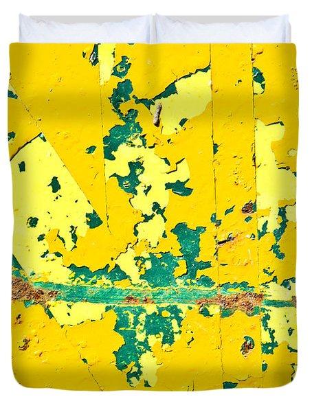 Yellow Metal Duvet Cover