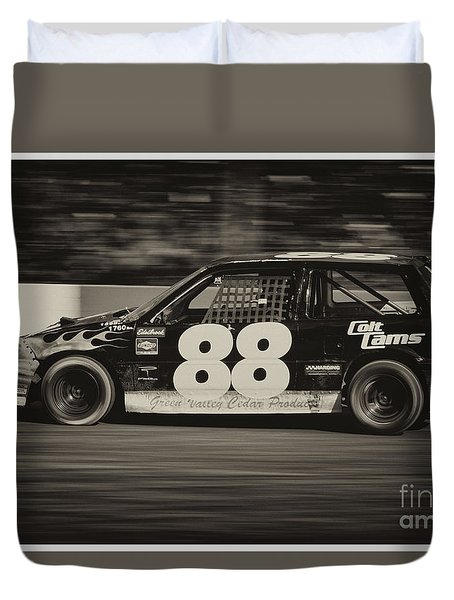 88 At The Wall Duvet Cover