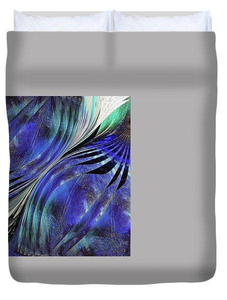 Duvet Cover featuring the photograph Exposed Gallery Garage  by Danica Radman