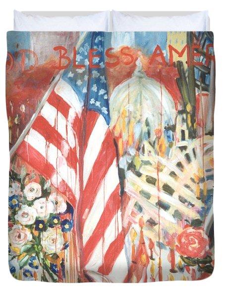 9-11 Attack Duvet Cover